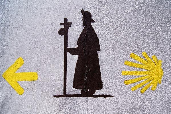 Cammino di Santiago: segni durante il tragitto